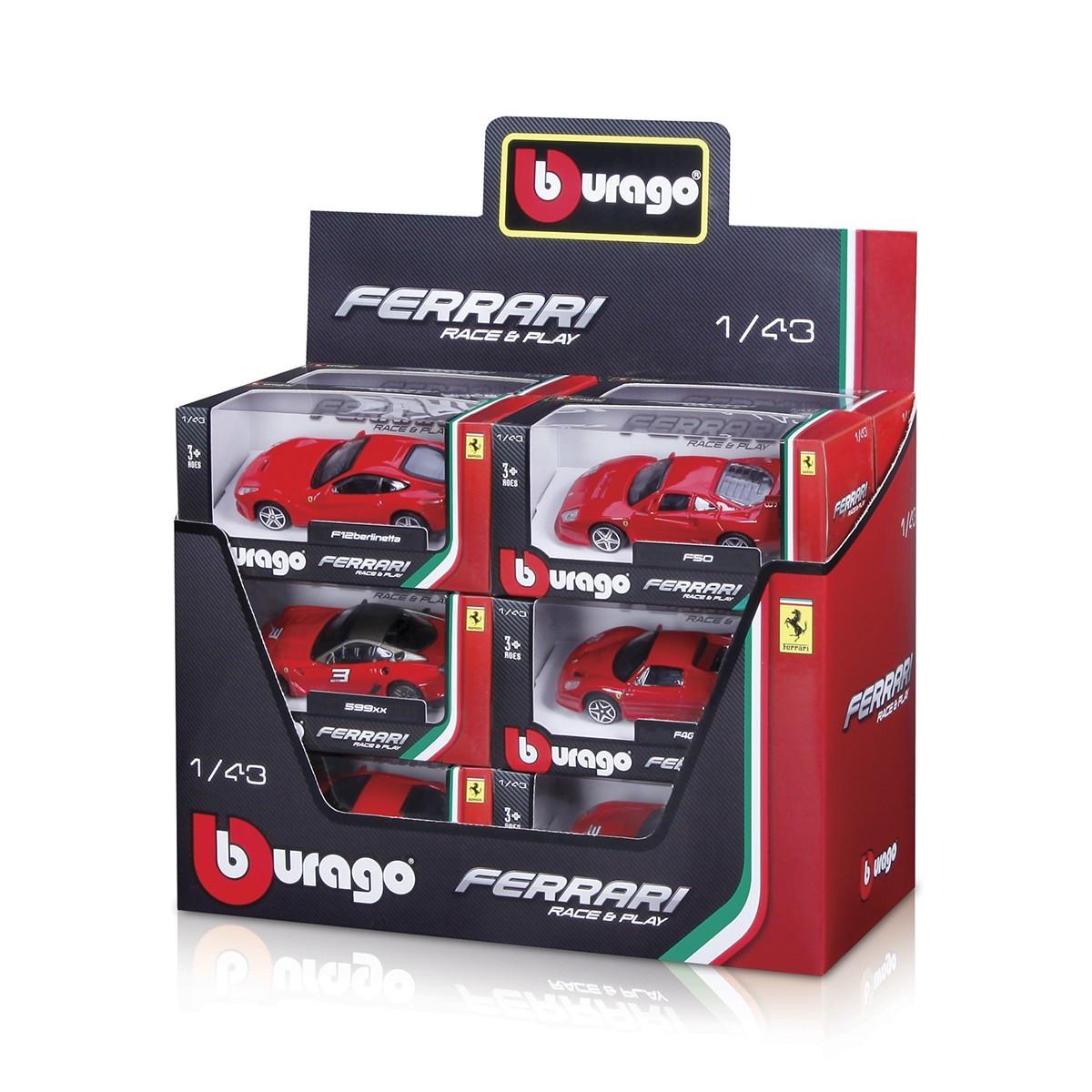 """Автомодель """"Bburago"""" Ferrari (1:43) асорті №18-36100/18-36000/КіддіСвіт/(12)"""