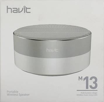 Колонка bluetooth Havit HV-M13 white/silver