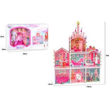 Будинок 3 поверхи,меблі,3 ляльки,29см,меблі,у кор-ці,57х36х26см №66926(3)
