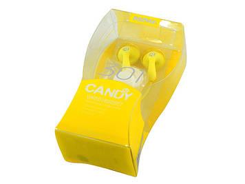 Навушники Remax Candy 301(гарнітура) yellow+мікрофон