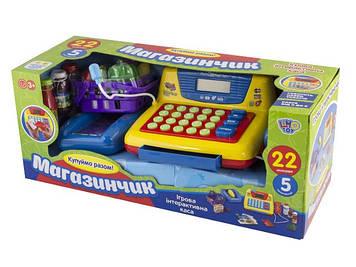 Касовий апарат на бат-ці,калькулятор,мікр.,сканер,муз.,звук,продукти,у кор-ці №7016-UA(12)
