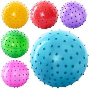 """М'яч масажний 3"""" 6 кольор.,20g,ПВХ №MS-0021(250)"""