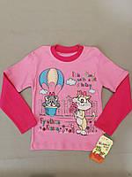 Весенний розовый реглан  для девочки 3, 4, 5 лет, фото 1