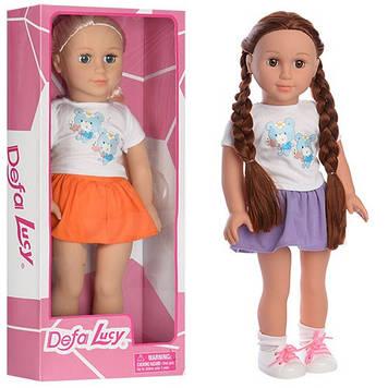 """Лялька """"Defa"""" 46см,м'яка яконабивна,у кор-ці,48х20х10,5см,2 віді №5510(6)"""