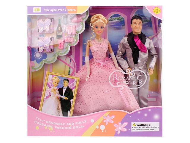 """Лялька """"Defa Lucy"""" весільня сукня,з Кеном,аксесуари,в кор-ці №20991(12)(24)"""