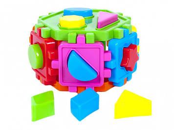 Куб-сортер геометр. фігури №50-103/Кіндер-Вей/(15)