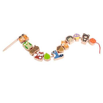 Іграшка дерев'яна яна шнурівка Лісові друзі №3634 Classic World