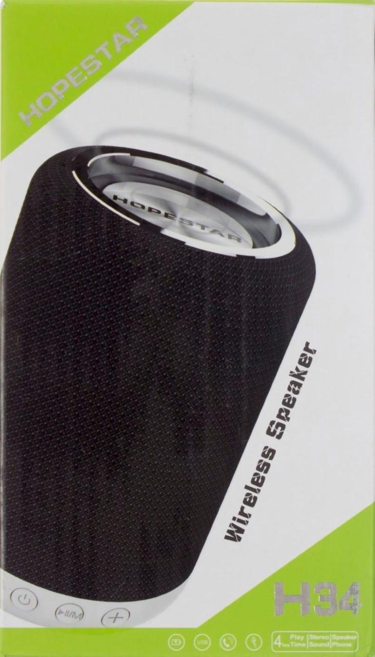 Колонка mini speaker Hopestar H34 bluetooth+power bank+mic black