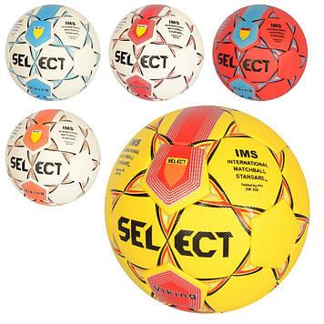 М`яч футбольний 400-420г, розмір 5, 6 кольорів, ПУ, №MS2315(30)