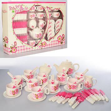 Посуд: чайний набір на 8 персон,столові приладдя,у кор-ці,30х23х8,5см №LN881A(30)