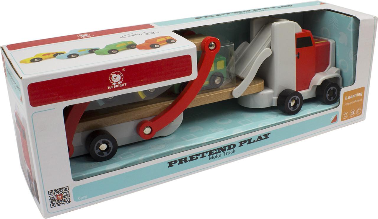 Іграшка дерев'яна  вантажівка Автовоз №120327 Top Bright