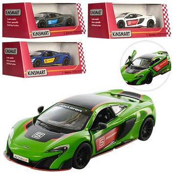 """Машина метал. """"Kinsmart""""  McLaren 675LT,в кор-ці,16х8х7см №KT-5392-WF(24)"""
