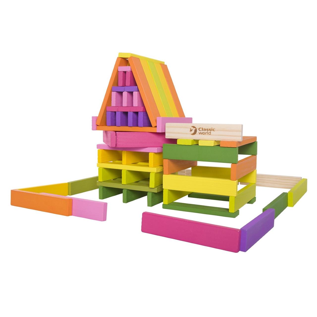 Іграшка дерев'яна  будівельні планки 100шт №3529 Classic World