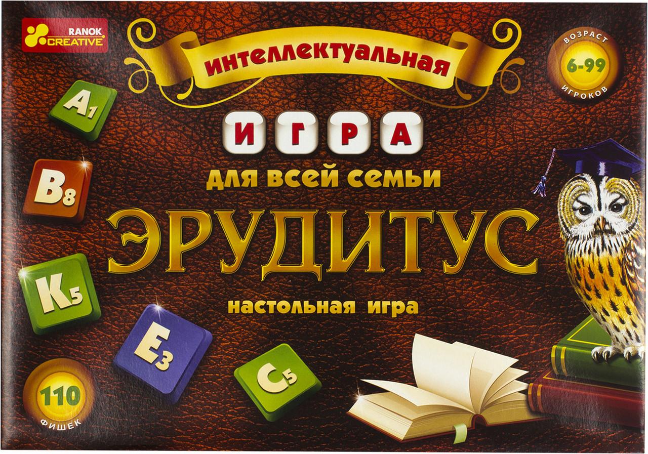 """Гра """"Ерудитус"""" №4011-01/12120031Р (рос.)/Ранок/"""