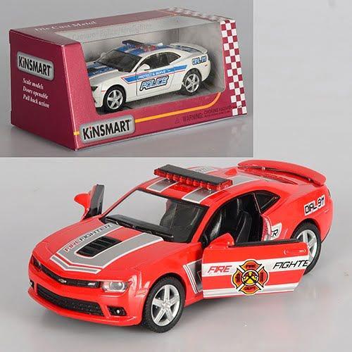 "Машина мет. ""Kinsmart"" Chevrolet Camaro(Police/Fire Fighter),в кор-ці №KT-5383-WPR(24)(96)"