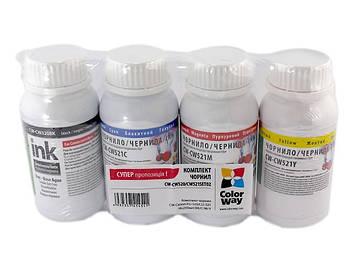 Чорнило к-кт ColorWay Canon PG-510/CLI-521 4х200мл (Black,Cyan,Magenta,Yellow)