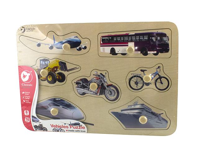Іграшка дерев'яна  вкладка Транспорт №3741 Classic World