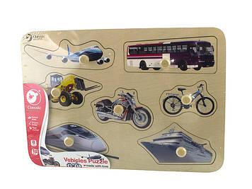Іграшка дерев'яна яна вкладка Транспорт №3741 Classic World