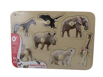Іграшка дерев'яна яна вкладка Тварини №3744 Classic World