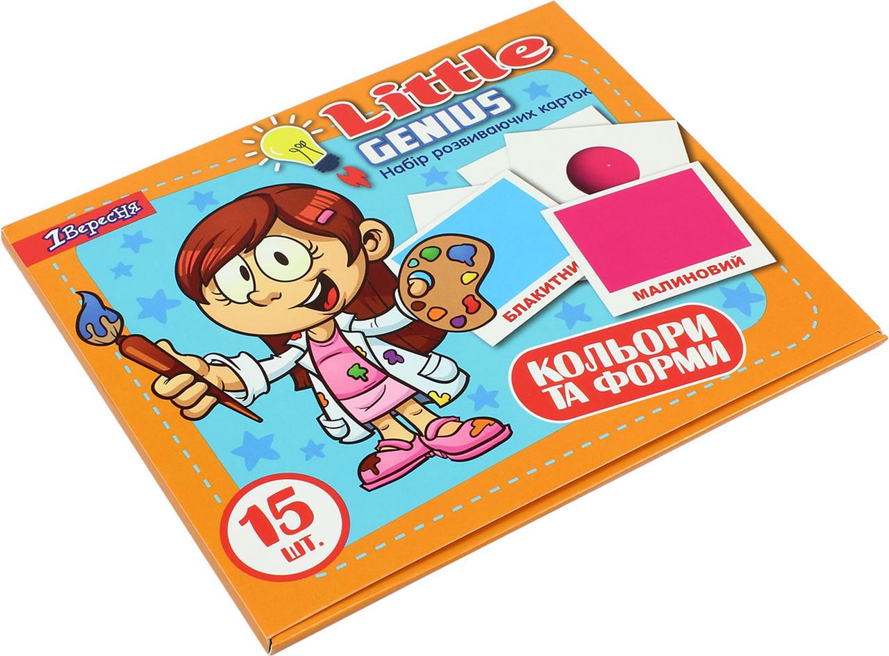 """Набір дитячих карток """"1В"""" """"Кольори і форми"""" 15шт (укр) №952802"""
