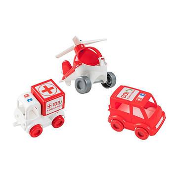 "Набір авто ""Kid cars"" швидка №39549/Wader/"