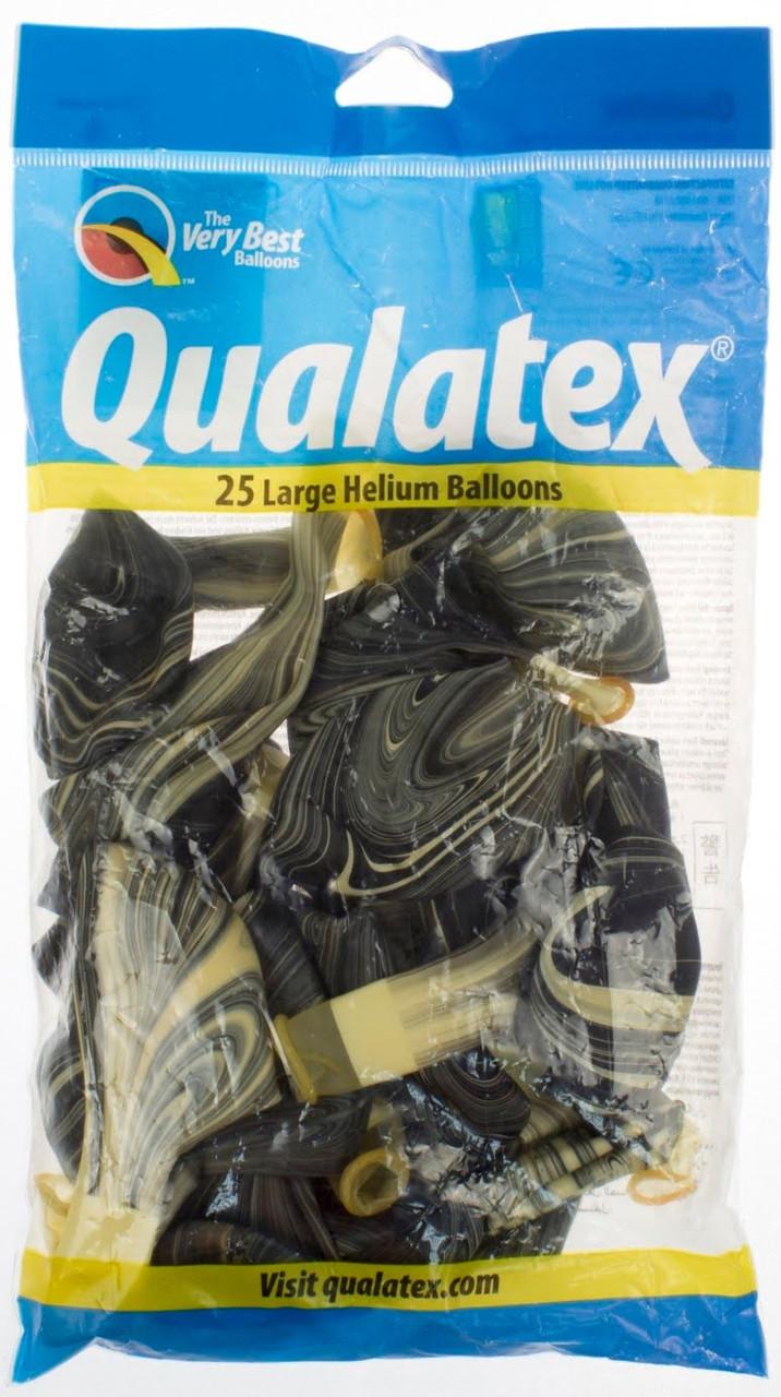 """Кулька повітр. Qualatex Супер Агат 12"""" чорно-білий №1108-0440(25)"""