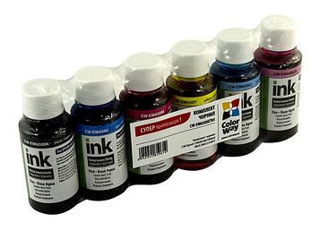 Чорнило к-кт ColorWayEpsonTX650 6х100мл (Black,Cyan,M-nta,Light Cyan,Light M-nta,Yel)№9614