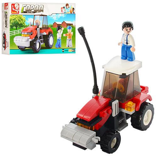 """Конструктор """"Sluban"""" Ферма,трактор,фігурки,103дет.,в кор-ці,23,5х14х4,5см №M38-B0556(72)"""