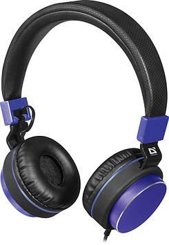 Навушники Defender Accord 165 (гарнітура) black/blue+мікрофон