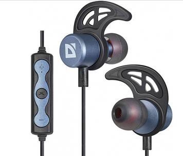 Навушники вакуумні Defender FreeMotion B685(bluetooth,stereo,гарнітура)blue-metal+мікрофон