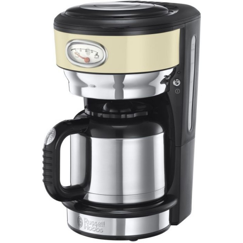 Капельная кофеварка Russell Hobbs Retro Vintage Cream 21702-56 Черный с серебристым (F00125313)
