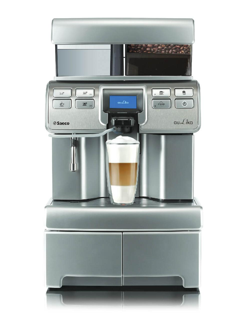 Кофемашина Philips Saeco Aulika Top High Speed Cappuccino Серебристый (F00159684)