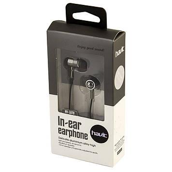Навушники вакуумні Havit HV-L670 iron/gray+мікрофон №4324