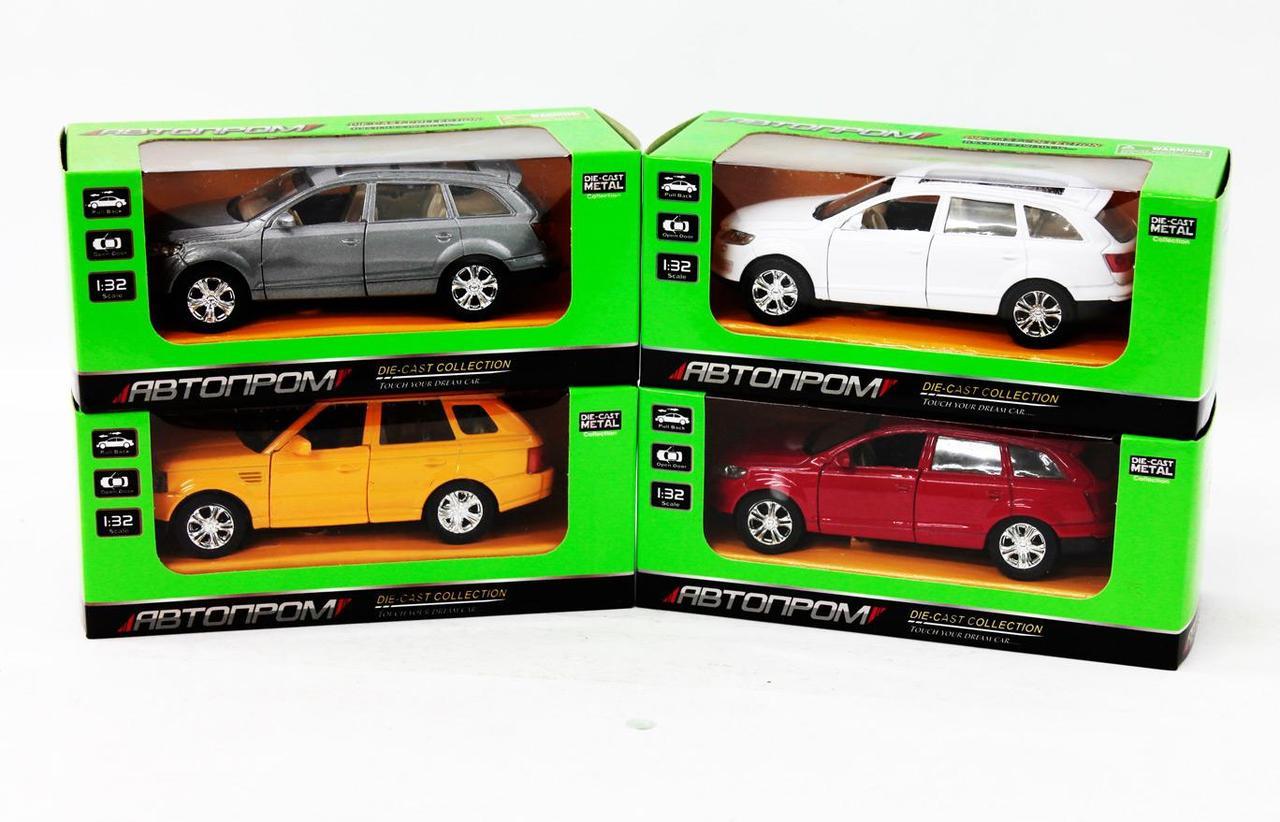 """Машина метал. """"Автопром"""" Audi відчин. двері,в кор-ці 16х7х7см,4вида №7702(24)(96) КІ"""