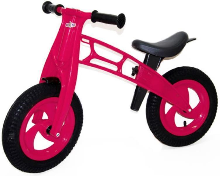 """Машина каталка - толокар,велобіг """"Cross Bike"""" 12"""",надувні колеса№11-018 малин./Кіндер-Вей/"""