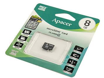 Карта пам'яті Micro 8Gb-Apacer SDHC class4
