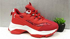 Женские кроссовки красные польские