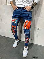 Мужские синие джинсы Marvel, фото 1