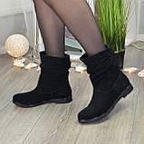 Женские замшевые демисезонные ботинки свободного одевания., фото 3