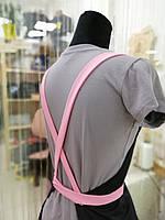 Фартух майстра манікюру ніжно рожеві бретелі, фото 3
