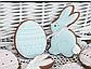 Вырубка кондитерская для пряника  кролик  зайка (0040) 8*8 см, фото 10