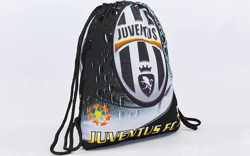 Рюкзак-мешок JUVENTUS (нейлон, р-р 39х49см, цвета в ассортименте)