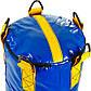Мешок боксерский Цилиндр Тент h-85см LEV UR (наполнит.-ветошь, d-28см, вес-20кг, синий-желтый), фото 3