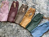 Яркие женские джеггинсы джинсы Ласточка демисезонные (ПОЛУБАТАЛ) с потертостями
