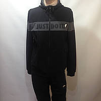 Мужской спортивный костюм в стиле Nike черный отличного качества, фото 1
