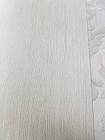 Обои виниловые на флизелине Marburg Opulence Classic 58259 однотонные белые полоска серебром