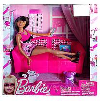 Набор кукла Барби с мебелью, диван Barbie Glam 2009 Mattel V6757
