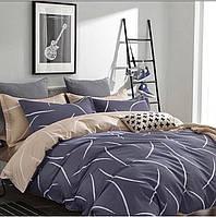 Качественное постельное белье двухспалка, серое