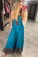 Сарафан-юбка длинный, в пол, есть большие размеры, ткань хлопок CARROCAR, Турция