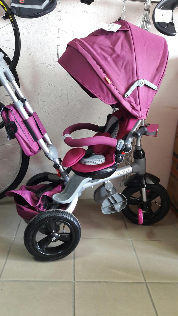 """Велосипед трехколесный Azimut T-500 """"AL"""" TRANSFORME РозовыйR"""
